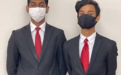 StuCo Vice President Lokesh Mudhalvan (left) and President Kenneth Daniel (right).